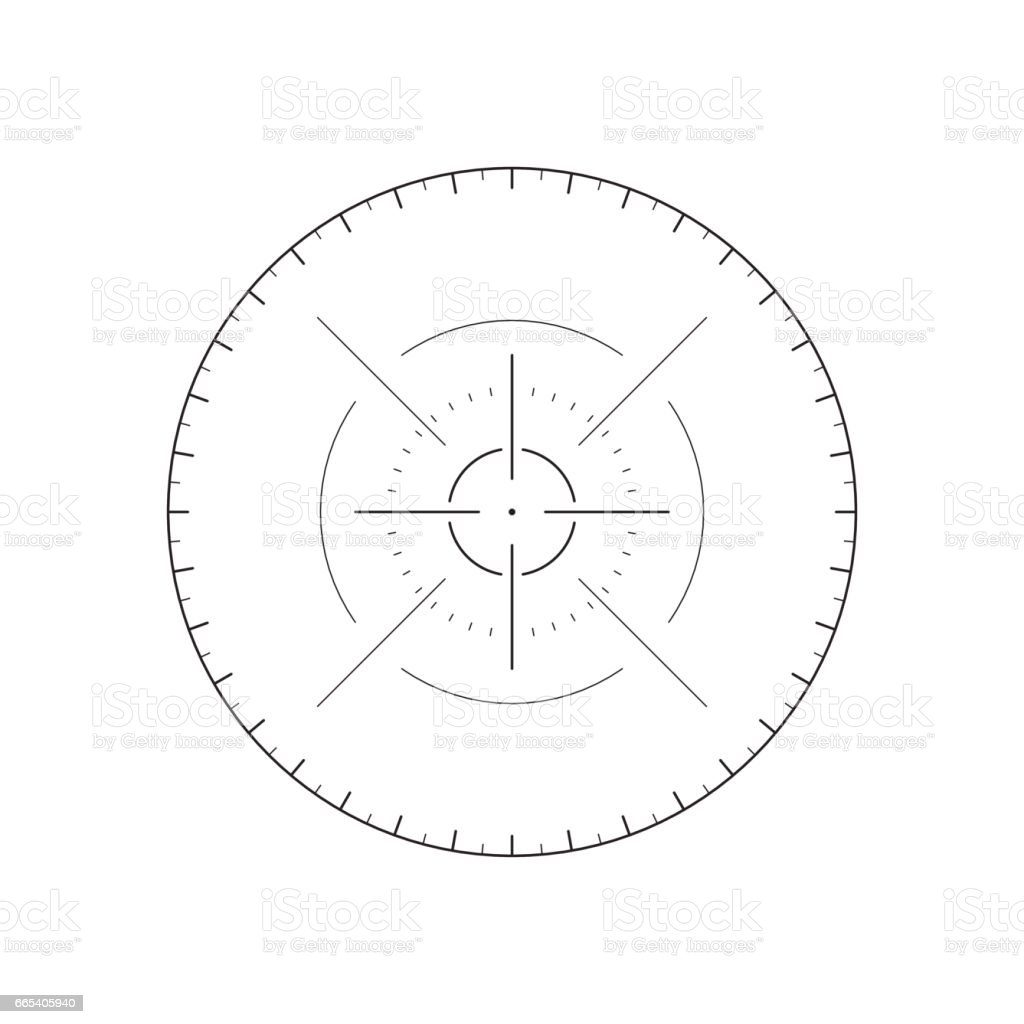 Futuristic crosshair for user interface vector art illustration