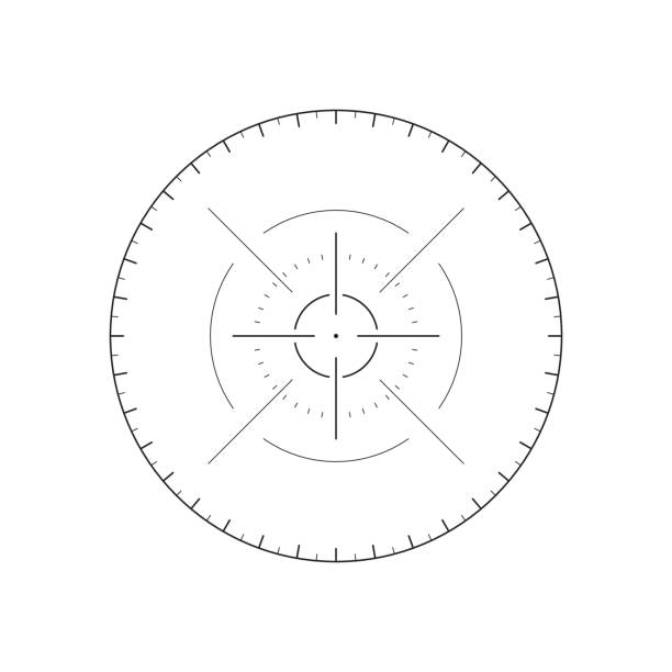 futuristic crosshair for user interface - глаз человека stock illustrations