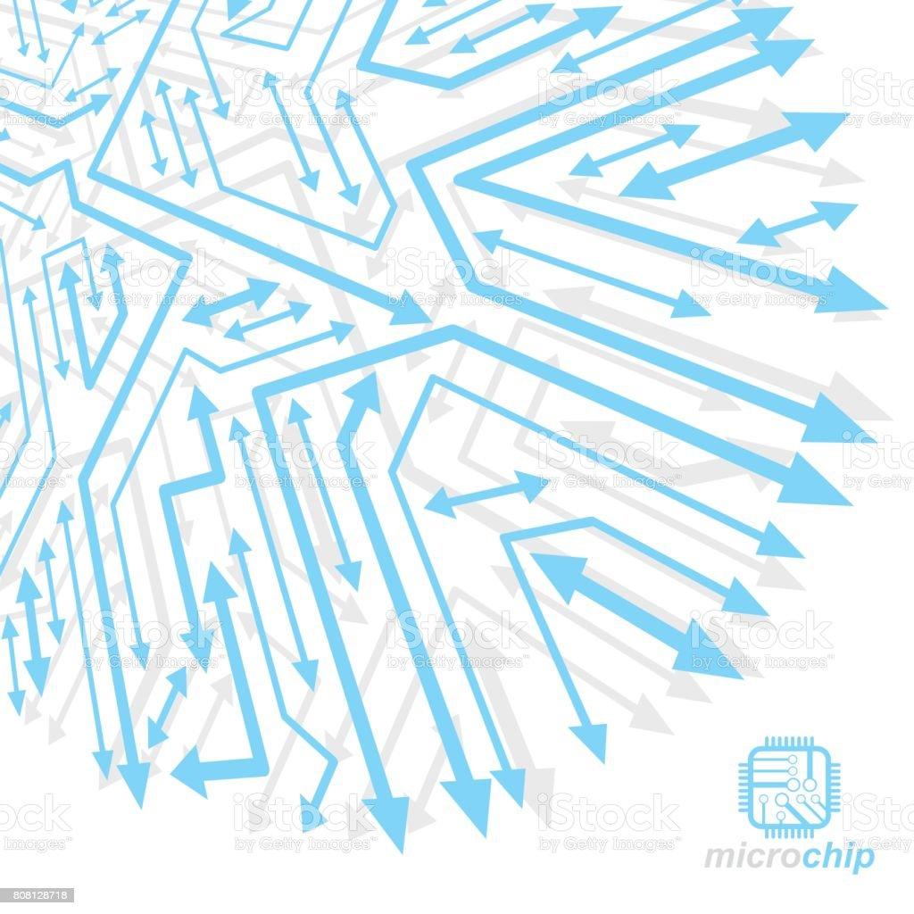 Schéma De La Cybernétique Futuriste Vector Illustration De Carte ...