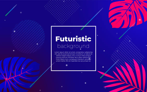 Futuristic deep background. Promotion template for website, social media. vector art illustration