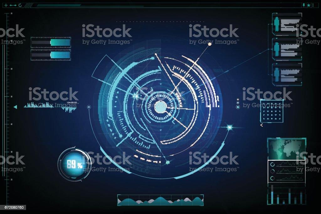 futuristic. design of  futuristic sci fi interface and background vector art illustration