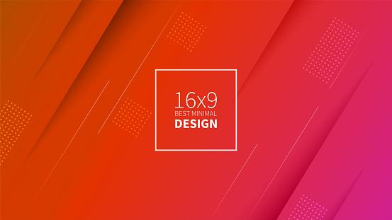 Futuristic design red background. Templates for placards, banners, flyers, presentations and reports. Minimal geometric, dynamic shapes composition, motion design, geometric style flat. EPS10