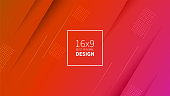 Futuristic design red background. Templates for placards, banners, flyers, presentations and reports. Minimal geometric, dynamic shapes composition, motion design, geometric style flat. EPS10.