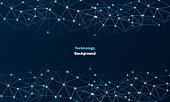 istock Futuristic digital block chain background stock illustration 1311404995