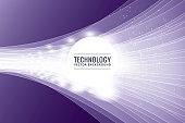Technology, DNA, Internet, Circle, Computer, Purple, Background,