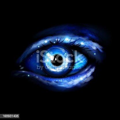 istock Futuristic eye 165931405