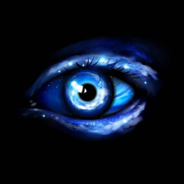 Futuristic eye vector art illustration