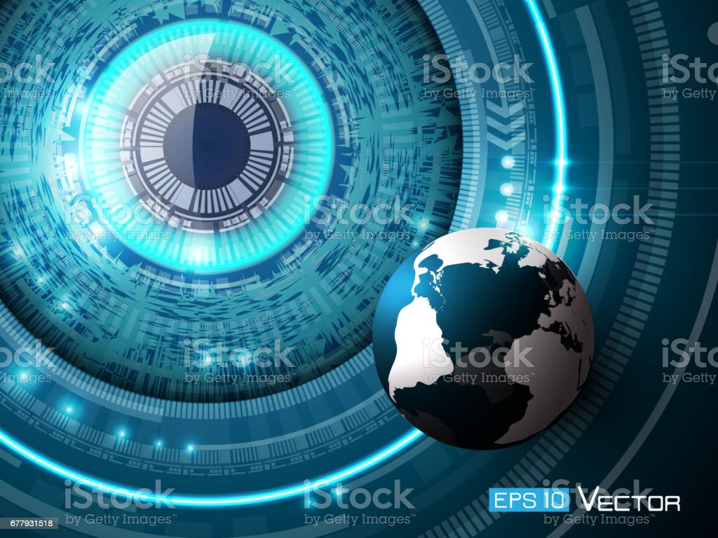 Futuristic eye with sphere royalty-free futuristic eye with sphere stock vector art & more images of abstract