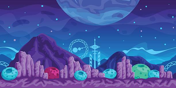 Futuristic Game Background Stock Illustration Download