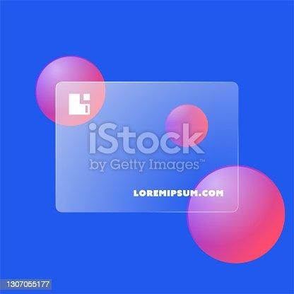 istock Futuristic Glass Business Card 1307055177