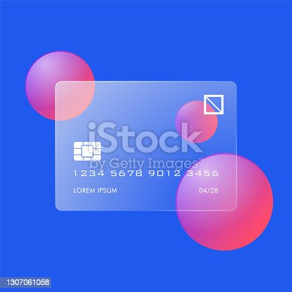 istock Futuristic Glass Credit Card 1307061058