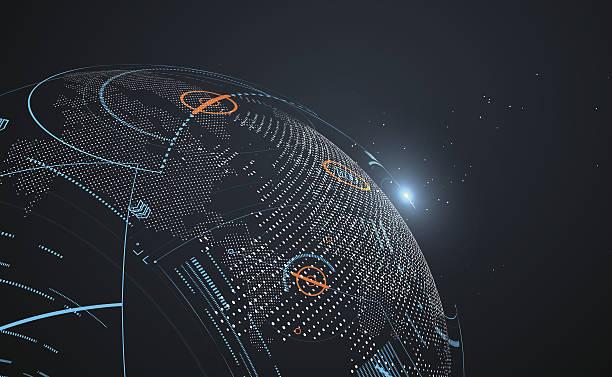 futuristic globalization interface. - global communications stock illustrations, clip art, cartoons, & icons