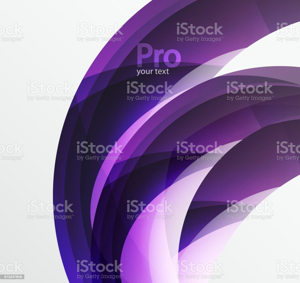 Futuristic hi-tech glass wave abstract background. Color curvy line with glossy effect vector art illustration