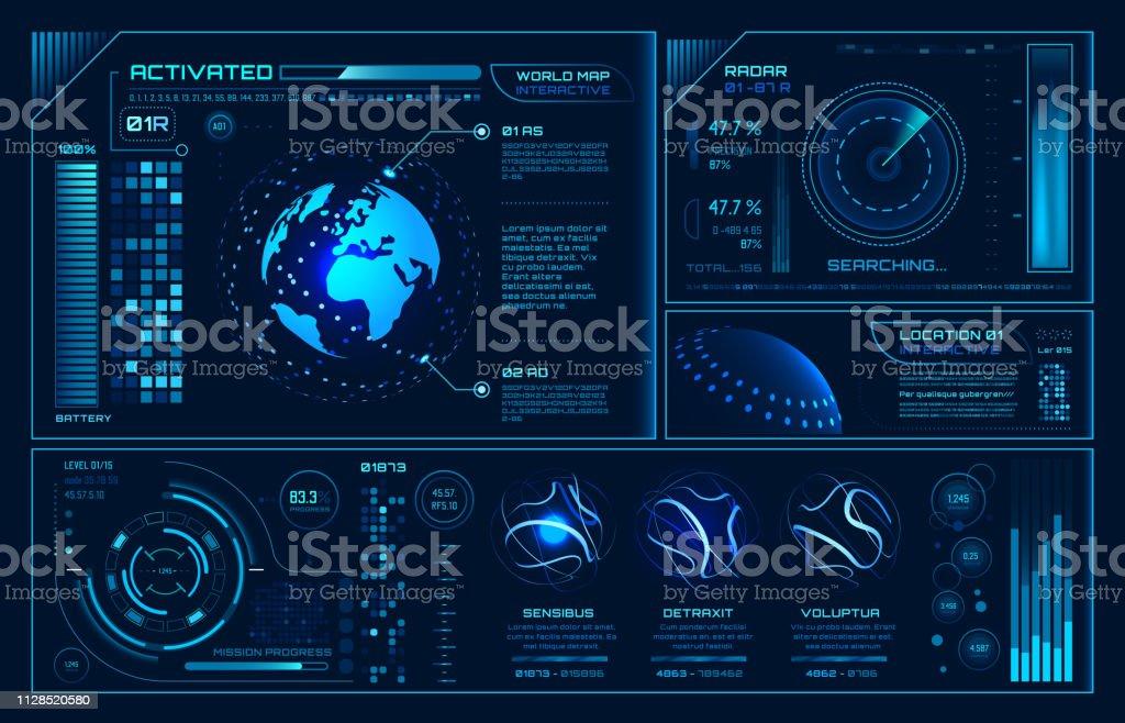 Futuristic Hud Interface Future Hologram Ui Infographic