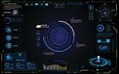 UI futuristic hud interface interactive visualization sci fi concept design