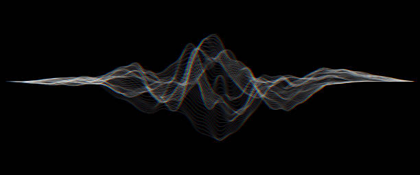 futuristic hud, ui vector grid. music sound waves set. audio digital equalizer technology, pulse musical. - sound wave stock illustrations, clip art, cartoons, & icons