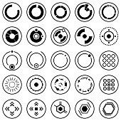 Futuristic icons. Set of infographic elements and symbols for user interface