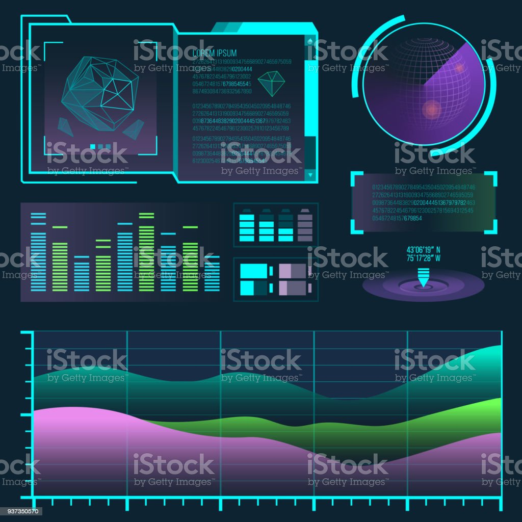 Futuristic Interface Space Motion Graphic Infographic Game