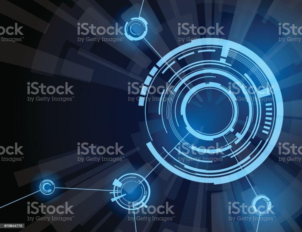 futuristic interface vector art illustration