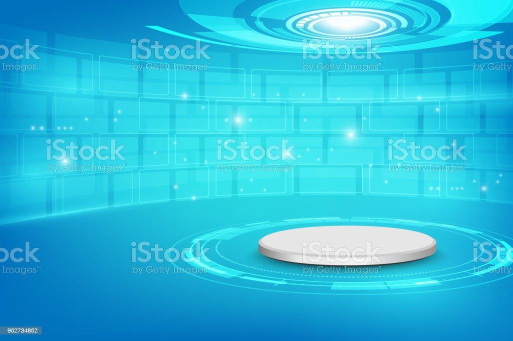 https://media.istockphoto.com/vectors/futuristic-interior-with-empty-stage-modern-future-background-scifi-vector-id952734852