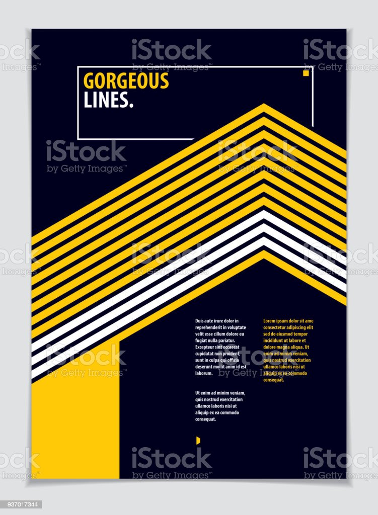 Futuristic minimal brochure graphic design template. Vector geometric pattern abstract background. Design template for flyer, booklet, greeting card, invitation and advertising. A4 print format. vector art illustration