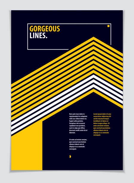 futuristische minimal broschüre grafik-design-vorlage. vektor geometrisch abstrakten hintergrund. design-vorlage für flyer, broschüre, grußkarte, einladung und werbung. a4 format ausdrucken. - bauhaus stock-grafiken, -clipart, -cartoons und -symbole