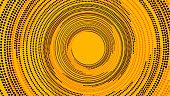Futuristic minimalistic illustration - Dotted spiral tunnel.