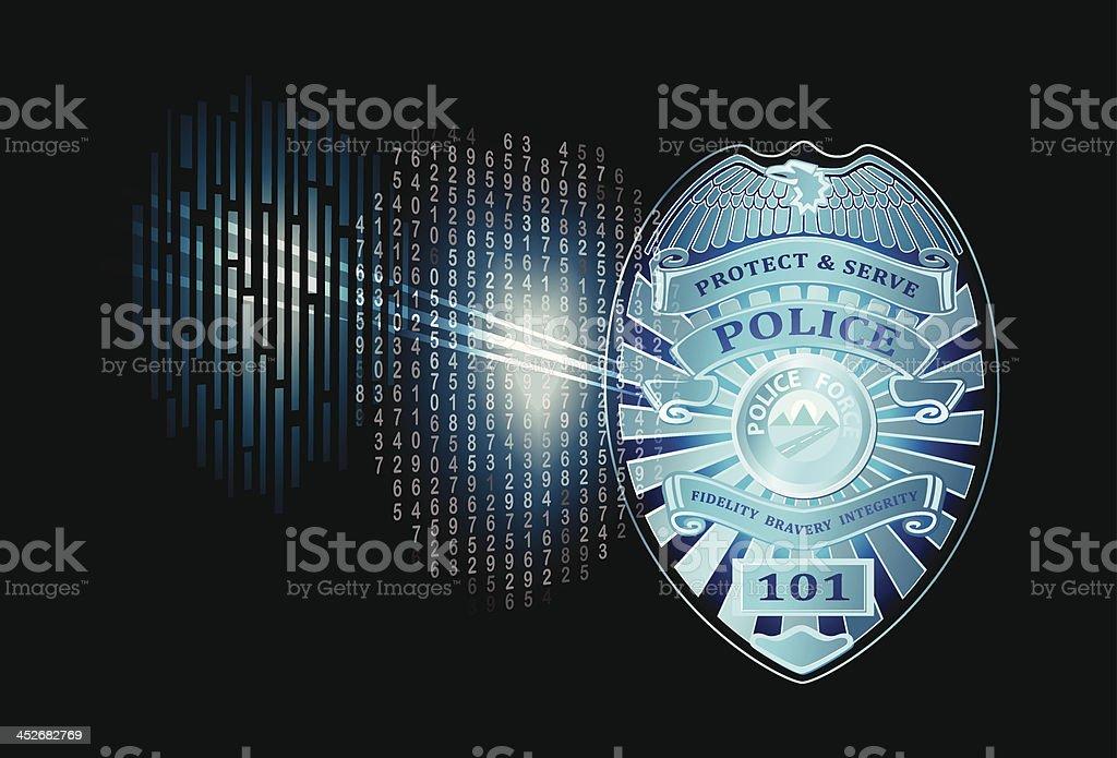 Futuristic Police Badge vector art illustration