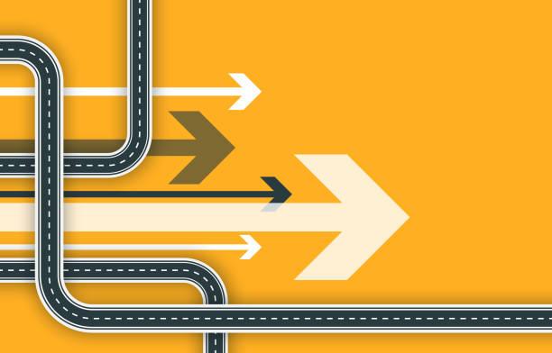 hintergrund der futuristischen road map - straße stock-grafiken, -clipart, -cartoons und -symbole