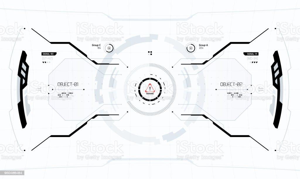 Futuristic Sci-Fi Technology HUD Screen vector art illustration