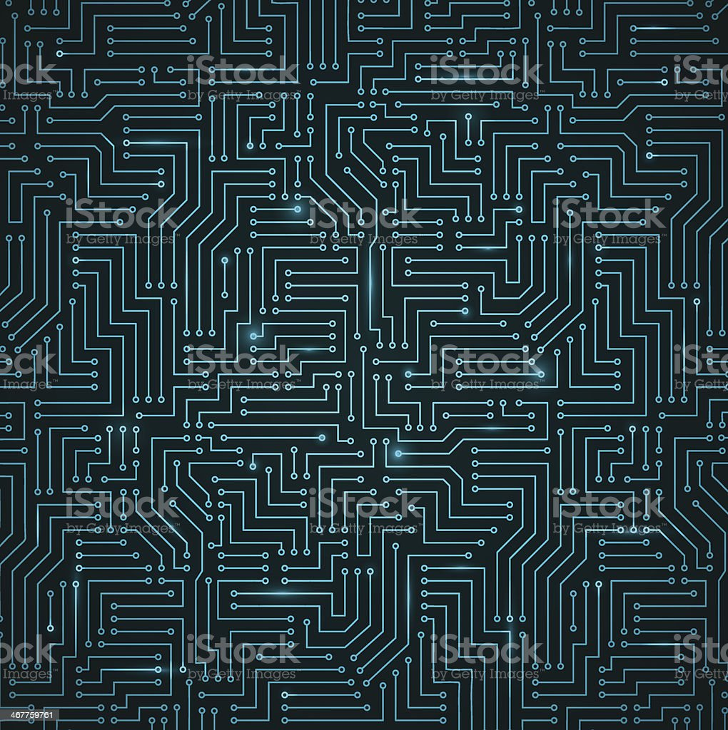Futuristic Shining Dark Blue Technology Backgorund vector art illustration