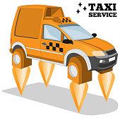 Futuristic taxi.