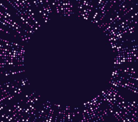 Futuristic Tech Circle Dot Abstract Background Design