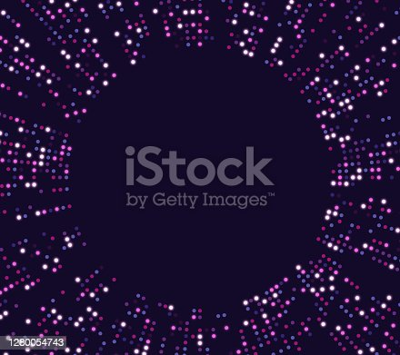 istock Futuristic Tech Circle Dot Abstract Background Design 1280054743