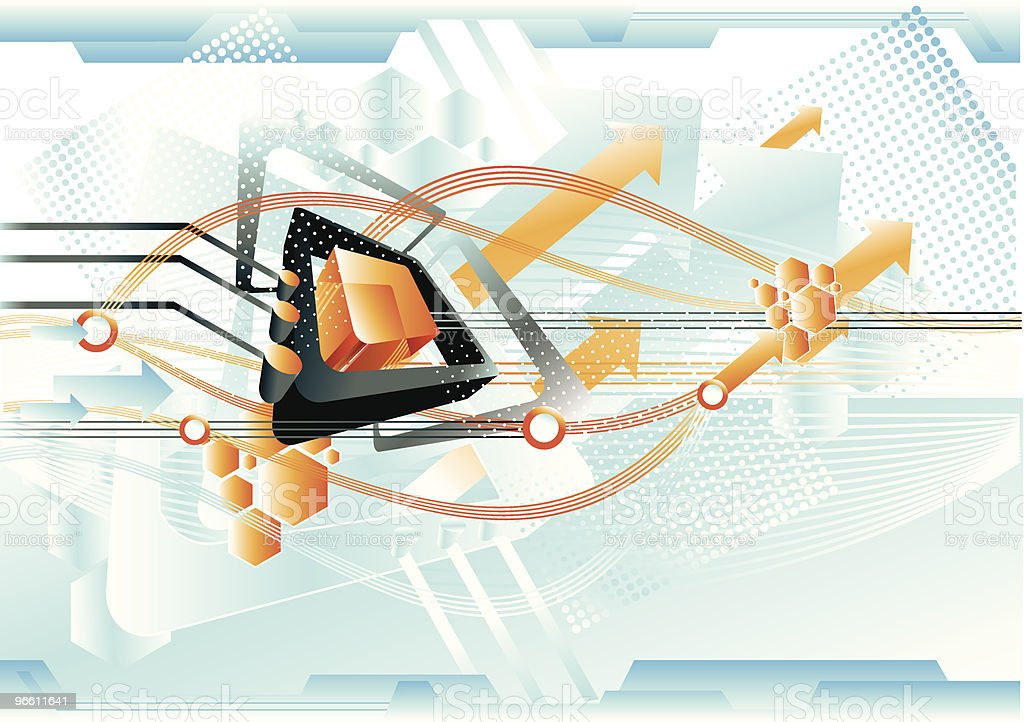 Futuristic tech III royalty-free stock vector art