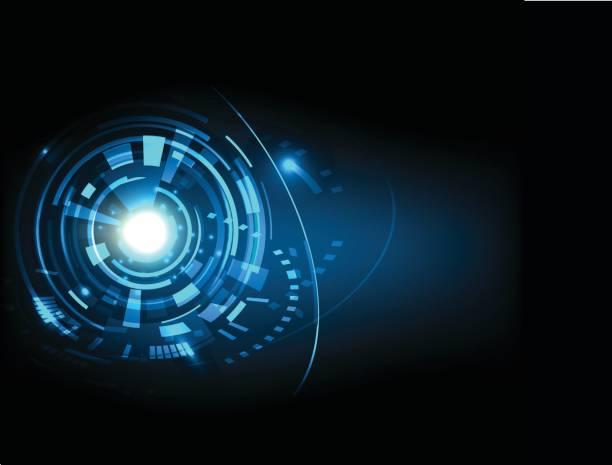 ilustrações de stock, clip art, desenhos animados e ícones de futuristic technology hud vector background eps10. - business woman hologram