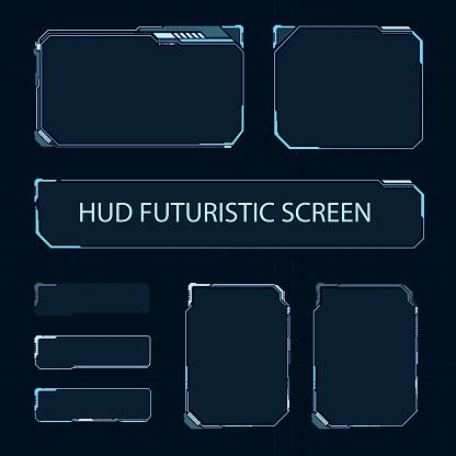 Vetores de Tela De Toque Futurista Da Interface De Usuário Painel De Controle Moderno Do Hud Tela De Alta Tecnologia Para Vídeo Game Projeto De Conceito De Scifi Ilustração Em Vetor e mais imagens de Cardápio
