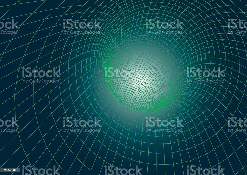 Futuristic tunnel vector ilustração de futuristic tunnel vector e mais banco de imagens de abstrato royalty-free