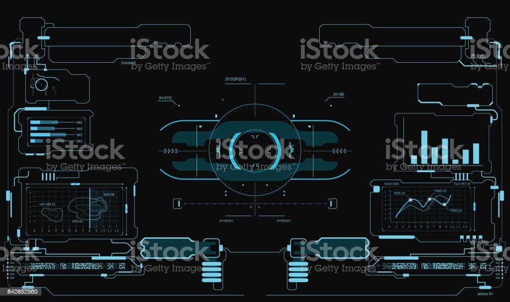 Futuristic user interface. HUD interface. Game interface