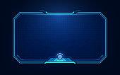 istock HUD, UI, GUI futuristic user interface screen elements. High tech screen for video game. Sci-fi concept design. 1269592684