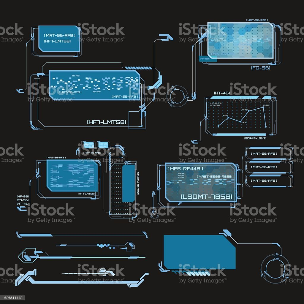 Futuristic user interface vector art illustration