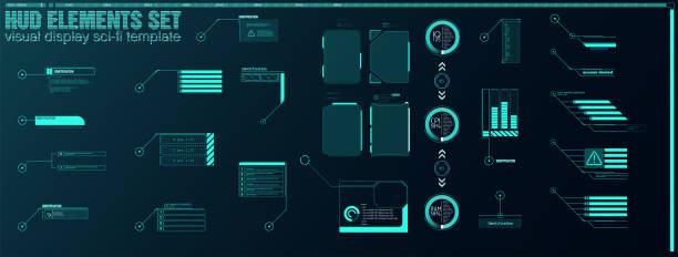 futuristische vector hud interface bildschirmdesign. digitale callout-titel. - webdesigner grafiken stock-grafiken, -clipart, -cartoons und -symbole