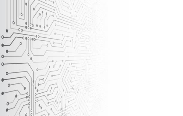 stockillustraties, clipart, cartoons en iconen met futuristische vector illustratie. high-tech technologie abstracte achtergrond. - printplaat
