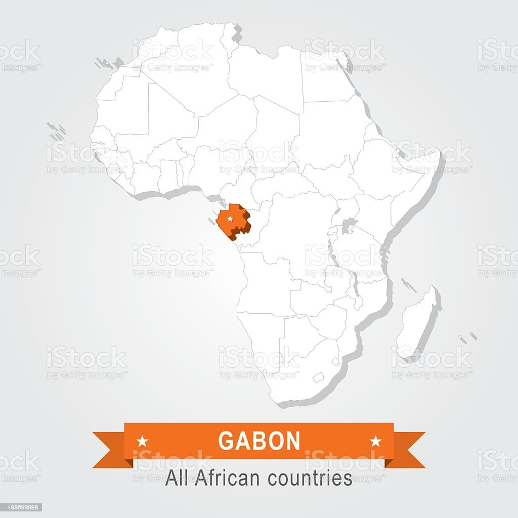 Gabon. All the countries of Africa. vector art illustration