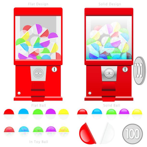 ガチャ グッズ マシン図セット - おもちゃ点のイラスト素材/クリップアート素材/マンガ素材/アイコン素材