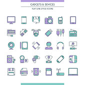 gadget and devices icon set