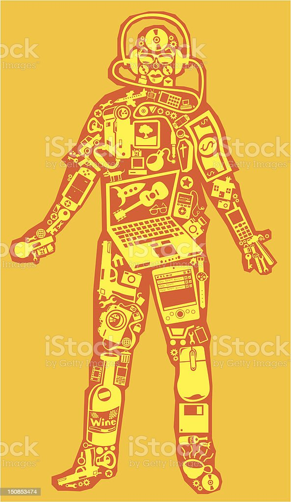Gadget man royalty-free gadget man stock vector art & more images of camera - photographic equipment