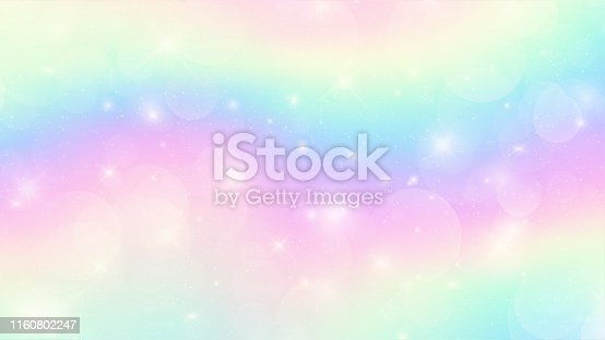 Galaxy holographic fantasy background in pastel colors. EPS 10