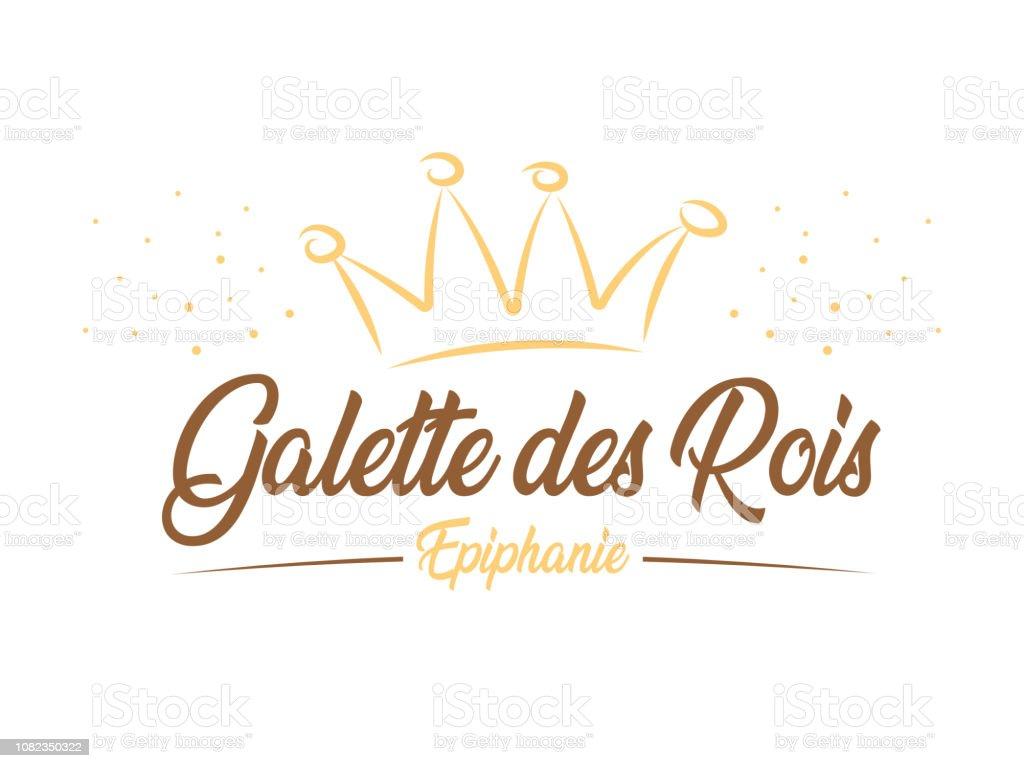 Galette des Rois - Épiphanie - Royalty-free Bolo de Dia de Reis arte vetorial