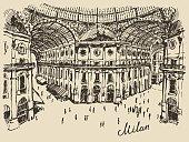Gallerie Viktora shopping center in Milan Italy